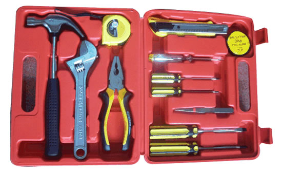 12 PC HOME OWNER TOOL SET